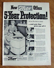 1951 Thor Spinner Washer Ad  5 Year Protection