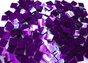 "110 Mosaic Tiles 1/2"" PURPLE VELVET MIRRORS Premium MIRROR Stained Glass"
