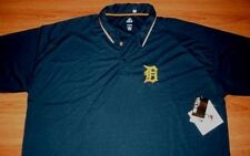 Detroit Tigers Polo Shirt 6XL Navy Stay Dry Embroidered Logo Majestic MLB
