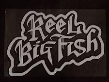 Reel Big Fish White Vinyl Lazer Sticker - New RBF logo car/window decal cd