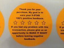 "375 2"" FB 5-STAR STICKERS Thank You Stickers Ebay Etsy Amazon Bonanza Rakuten"