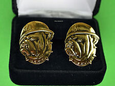 Usmc Bulldog face & helmet Cuff Links in Presentation Gift Box -Marine Corps