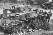 WWII B&W Photo German Panzer IV Tank France  WW2 / 4016