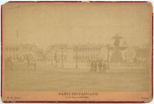 FONTAINE DE LA CONCORDE/HOTEL DE CRILLON BY EDIT, PARIS, VINTAGE CABINET PHOTO