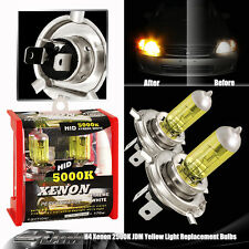 Universal H4 / HB2 / 9003 2500K 12V 100 / 80W Yellow Halogen Bulbs