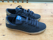 VTG ADIDAS BLUE TRAINERS UK 9 LACE UP SHOES FOOTBALL GYM SPORT CASUAL