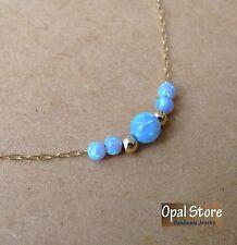 opal jewelry, opal gold necklace, blue opal, fire opal necklace, opal pendant