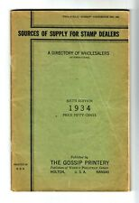 Gossip 1934 Sources Of Supply For Stamp Dealers Sixth Ed. 102 Pages Handbook
