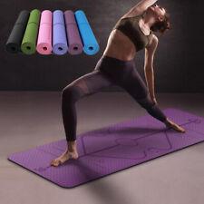 Tapis de Yoga TPE 183*61 cm avec ligne de Position tapis antidérapant Fitness