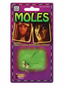 Halloween Witch Moles Pack of 3 Stick on Moles Monster Witch Old People Disguise