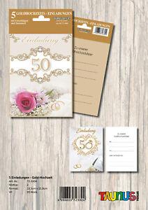 50 Einladungskarten Einladung Goldene Hochzeit 723304 TA