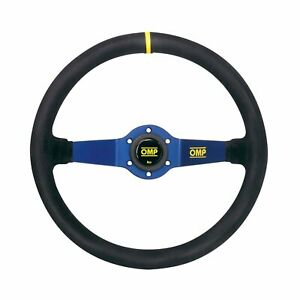 OMP RALLY Steering Wheel SUEDE LEATHER BLUE ANODIZED Race, Rally, Tuning