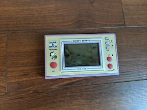 """SNOOPY TENNIS GAME & WATCH NINTENDO VINTAGE MADE JAPAN USED """"AS IS FOR PARTS"""""""