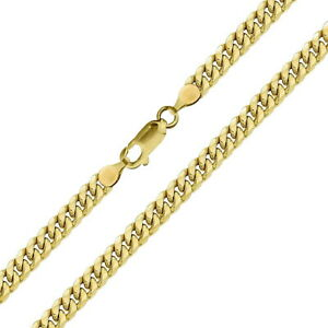Real 10k Yellow Hollow Gold Mens / Women Miami Cuban Link Bracelet / Anklet
