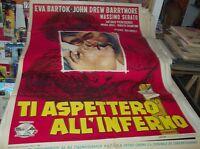TI ASPETTERO' ALL'INFERNO manifesto 2F originale 1961