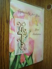Religious:Especially for You on your Graduation greeting Card w/CROSS* G42