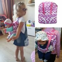"Kids Backpack Schoolbag & Doll Carrier Bag for 18"" American Our Generation Girls"