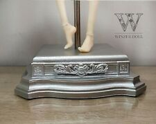 Doll posing stand saddle style, silver stand for BJD or art doll 1/6-1/4 size