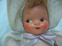 VINTAGE DOLL CELLULOID FACE CLOTH BODY