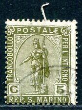 SAN MARINO 1922 82 gestempelt schöne ABART (A9333