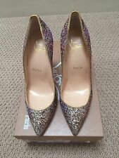 Christian Louboutin Pigalle Follies course glitter pump 100MM Sz 40