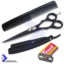 Barber Hair Shaving Razor Folding Knife Hair Cutting Scissor Hairdressing Shears