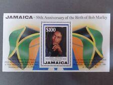 """Timbre JAMAICA """"50 ème anniversaire naissance Bob Marley"""""""