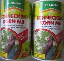 ( 100g=1,67€  /1kg=16,66€)4 Dosen Schneckenkorn Schnecken Korn Dr.Stähler 4x300g