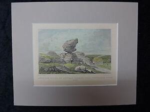 C1860's Hand Coloured Engraving of Singular Rocks, Tunbridge Wells.