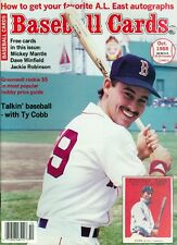 1988 Baseball Cards Magazine with Cards: Mike Greenwell/Mantle/Jackie Robinson