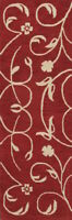"""Hand-tufted Transitional Red Runner 3x8 Oushak Agra Oriental Rug 7' 10"""" x 2' 7"""""""
