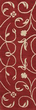 "Hand-tufted Transitional Red Runner 3x8 Oushak Agra Oriental Rug 7' 10"" x 2' 7"""