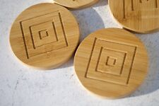 Natural Bamboo Lightweight Coasters Set Of Four