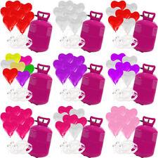 30 Herz Luftballons freie Farbwahl mit Helium Ballongas Hochzeit Komplettset