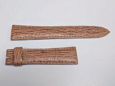 Original Breguet Marine Brown W/ Brown Stitch Shark Skin Watch Strap 19x16mm