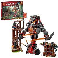 734pcs Ninjagoed Dawn Of Iron Doom Building Blocks Mini Figures Set Lepining