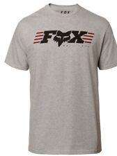 Fox Muffler SS Tee - Short Sleeve T-Shirt light Heather Grey size Adult Medium