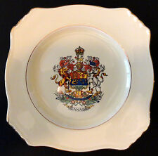"""14185 VINTAGE 8 ¾"""" ROYAL WINTON / GRIMWADES PORCELAIN CANADA SOUVENIR PLATE"""
