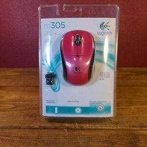 New Logitech M305 2.4GHZ Wireless Pink/Black Mouse Factory Sealed Unopened