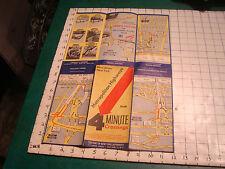 Vintage Original map: Metropolitian Highways 4 minute crossings Nj Ny, tunnels
