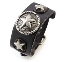 A19 Leder Armband Cuff Manschette Biker Stern Star Herren Leather Bracelet Belt