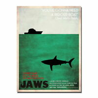 136919 JAWS 1 2 3 Minimalist Hot Movie Wall Print Poster Affiche