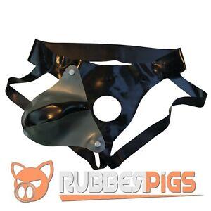 Rubber Codpiece Jockstrap, premium thick rubber, detachable Black and Silver
