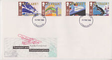 UNADDRESSED GB ROYAL MAIL FDC 1988 TRANSPORT & COMMUNICATIONS SET PLYMOUTH PMK