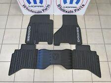 DODGE RAM QUAD CAB Front And Rear Slate Gray Slush Mats NEW OEM MOPAR