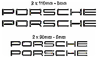 Porsche Decal set Big front small rear calipers Oracal Heat Res - Free Shipping