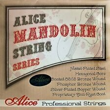 Alice AM07 Mandolin Strings 8 String Phosphor Bronze Set .010 - .034 Loop End