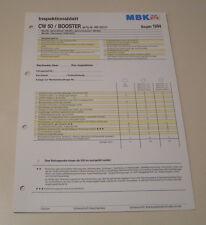 Inspektionsblatt MBK Motorroller CW 50 / BOOSTER - ab 1994!