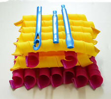 New 18PCS 65cm Magic Hair Curlers Roller Curl Spiral Ringlets Leverage Rollers