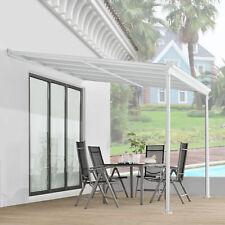 Terrassendach Terrassenüberdachung Vordach 3x3m Überdachung Aluminium | Juskys